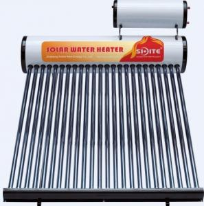 Non-pressurized colorful  steel solar water heater with assitant tank